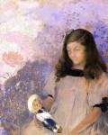 Живопись   Одилон Редон   Portrait of Simone Fayet, 1907