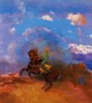 Живопись | Одилон Редон | The Green Horseman, 1904