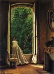 Живопись | Вито Д'Анкона | The Window, 1873