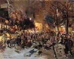 Живопись | Константин Коровин | Бульвар в Париже, 1912