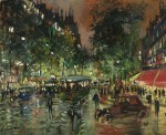 Живопись | Константин Коровин | Парижский бульвар ночью