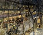 Живопись | Константин Коровин | Париж. Кафе де ля Пэ, 1906