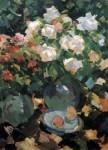 Живопись | Константин Коровин | Розы в голубых кувшинах, 1917