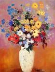 Живопись   Одилон Редон   White Vase with Flowers