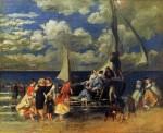 Живопись | Пьер Огюст Ренуар | Возвращение лодочной вечеринки, 1862