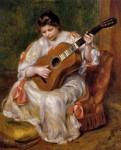 Живопись | Пьер Огюст Ренуар | Женщина, играющая на гитаре, 1896