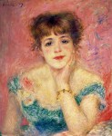 Живопись | Пьер Огюст Ренуар | Портрет актрисы Жанны Самари, 1877