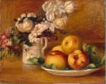 Живопись | Пьер Огюст Ренуар | Яблоки и цветы, 1895-96