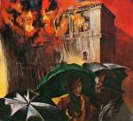 Живопись | Ренато Гуттузо | Ночь на 1 января 1940 года (Пожар в палаццо Канчеллерия)