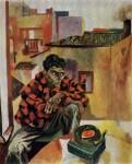 Живопись | Ренато Гуттузо | Рокко у патефона, 1960-61