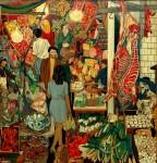 Живопись | Ренато Гуттузо | Рынок Вуччирия, 1974