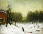 Живопись | Роберт Генри | Seventh Avenue In The Snow