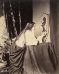 Фотография | Генри Пич Робинсон | Элейна из Астолата рассматривает щит Ланселота, 1859