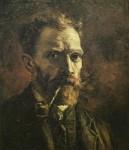 Живопись | Винсент ван Гог | Автопортрет с трубкой, 1886