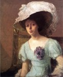 Живопись | Джулиан Олден Уир | Голубое платье, 1907