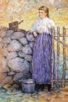 Живопись | Джулиан Олден Уир | Девочка у ворот, 1896