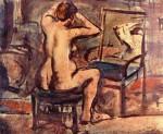 Живопись | Жорж Руо | Nude at a Mirror II, 1907