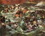 Живопись | Макс Бекман | Гибель Титаника, 1912