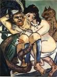 Живопись | Макс Бекман | Odysseus and Calypso, 1943