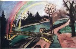 Живопись | Макс Бекман | Railway bridge and rainbow, 1942