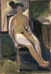 Живопись | Рихард Герстль | Seated Woman, Nude, 1908