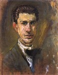 Живопись | Рихард Герстль | Small Self-Portrait, 1907-08