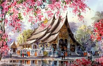Танакорн Чаиджинда и его акварельный Таиланд