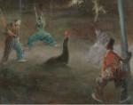 Живопись | Эверетт Шинн | Clowns Playing Ball with Seal