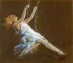 Живопись | Эверетт Шинн | Girl on a Swing