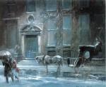 Живопись | Эверетт Шинн | The Canfield Gambling House, 1912