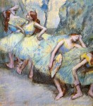 Живопись | Эдгар Дега | Балерины за кулисами, 1900