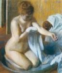 Живопись | Эдгар Дега | После купания, 1885-86
