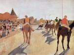 Живопись | Эдгар Дега | Скаковые лошади перед трибунами, 1869-72