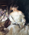 Живопись | Эдмунд Чарльз Тарбелл | Girl Reading (by a Window), 1903