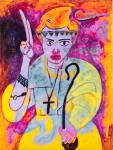 Живопись | Пахом | Мария Д.Х., 2017. Холст, смешанная техника, 200 х 150 см. Источник: vladey.net