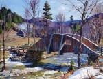 Живопись | Алдро Хиббард | The Wooden Bridge