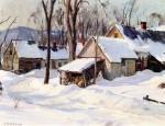 Живопись | Алдро Хиббард | Winter Farm