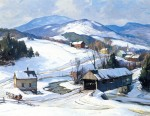 Живопись | Алдро Хиббард | Winter, Vermont