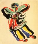 Живопись | Александр Родченко | Джазовый музыкант, 1943