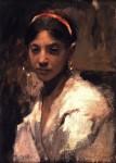 Живопись | Джон Сингер Сарджент | Head of a Capri Girl, 1878