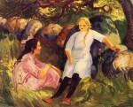 Живопись | Джон Френч Слоун | Two Little Girls, 1916