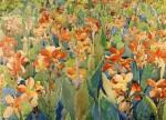 Живопись | Морис Брэзил Прендергаст | Bed of Flowers, 1899