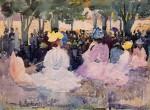 Живопись | Морис Брэзил Прендергаст | Figures on the Grass, 1895