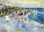 Живопись | Морис Брэзил Прендергаст | Revere Beach, 1896-97