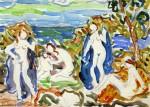 Живопись | Морис Брэзил Прендергаст | The Bathers, 1912-15