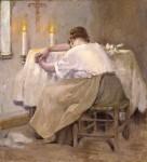 Живопись | Роберт Льюис Рид | Her First Born, 1888