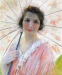 Живопись | Роберт Льюис Рид | Lady with a Parasol, 1921