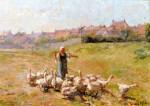 Живопись | Роберт Льюис Рид | Peasant Girl with Geese