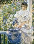 Живопись | Роберт Льюис Рид | Woman on a Porch with Flowers, 1906