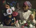 Живопись | Фредерик Базиль | African Woman with Peonies, 1870